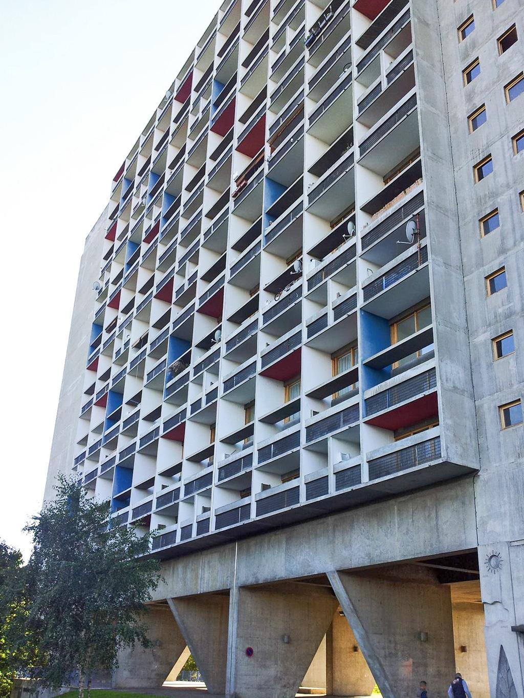 L'unité d'habitation de Firminy-Vert, façade