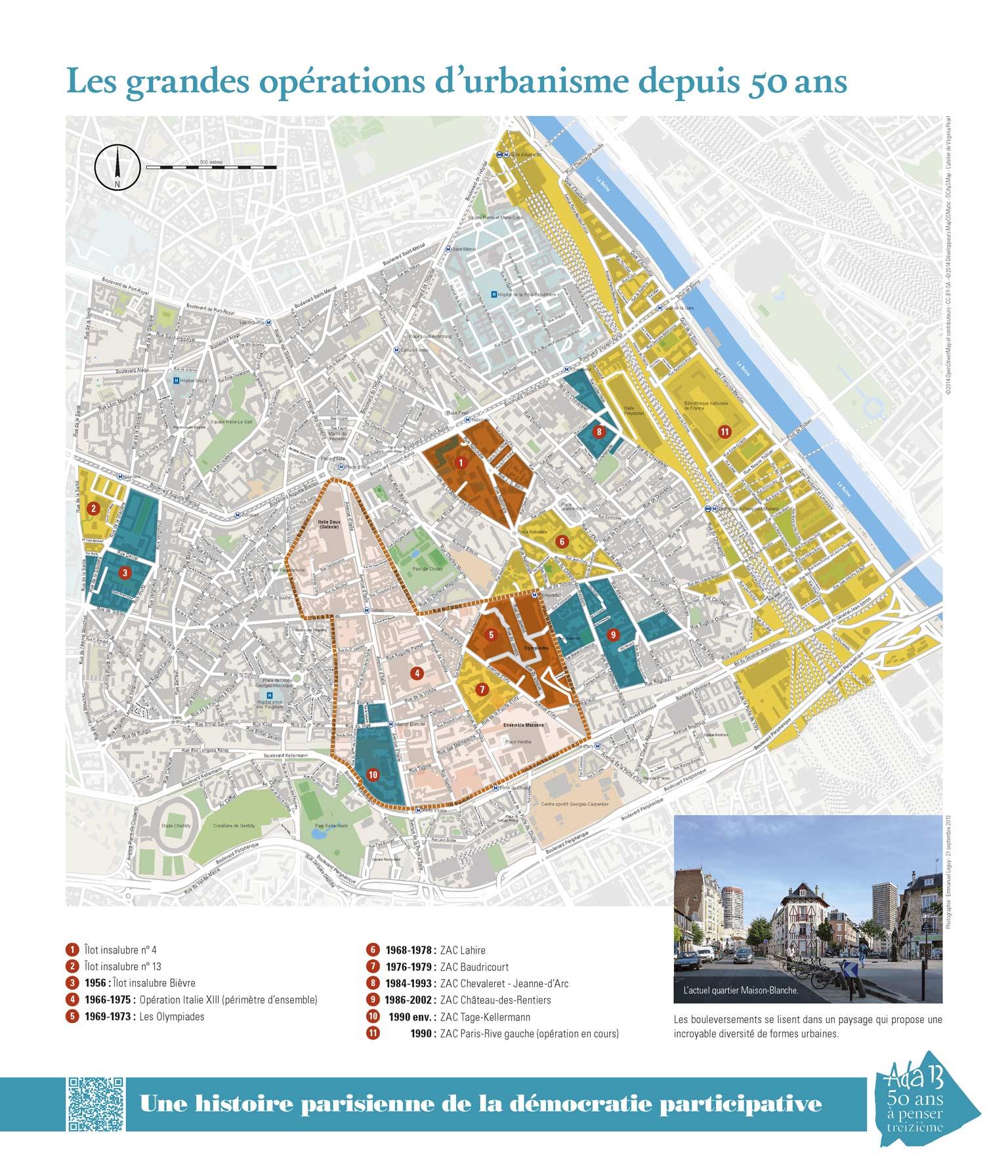 Panneau d'exposition | Les grandes opérations d'urbanisme depuis 50ans