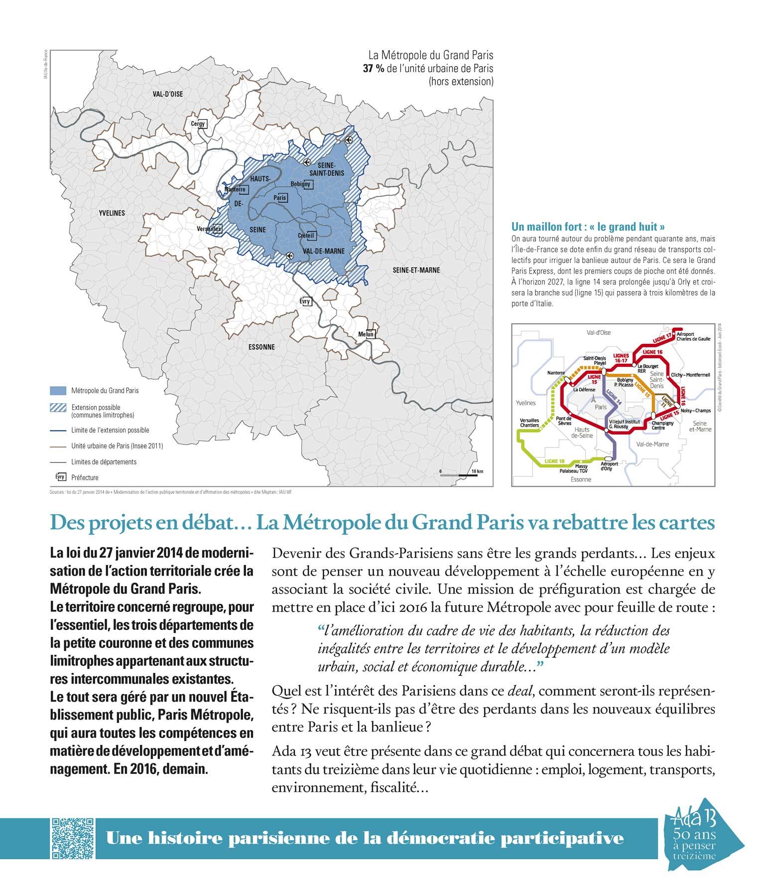 Panneau d'exposition | Des projets en débat… La Métropole du Grand Paris va rebattre les cartes