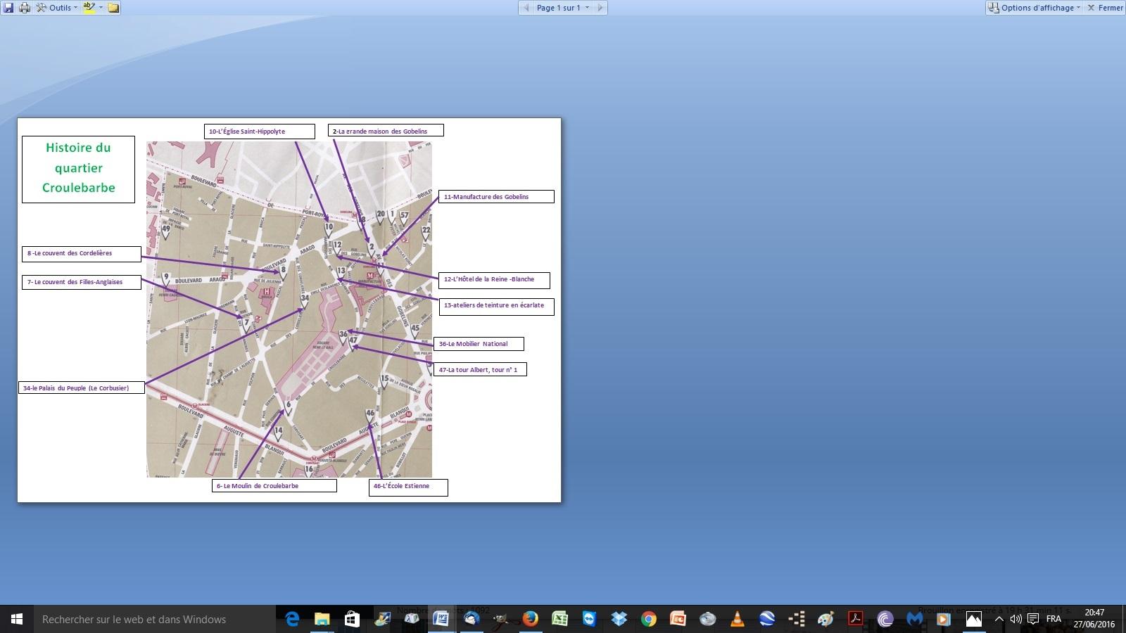 Plan quartier Croulebarbe